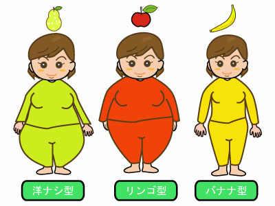 遺伝子型肥満の分類【ナシ、りんご、バナナ型肥満】 カテゴリー:病気・患者・病状・症状 / 健康・